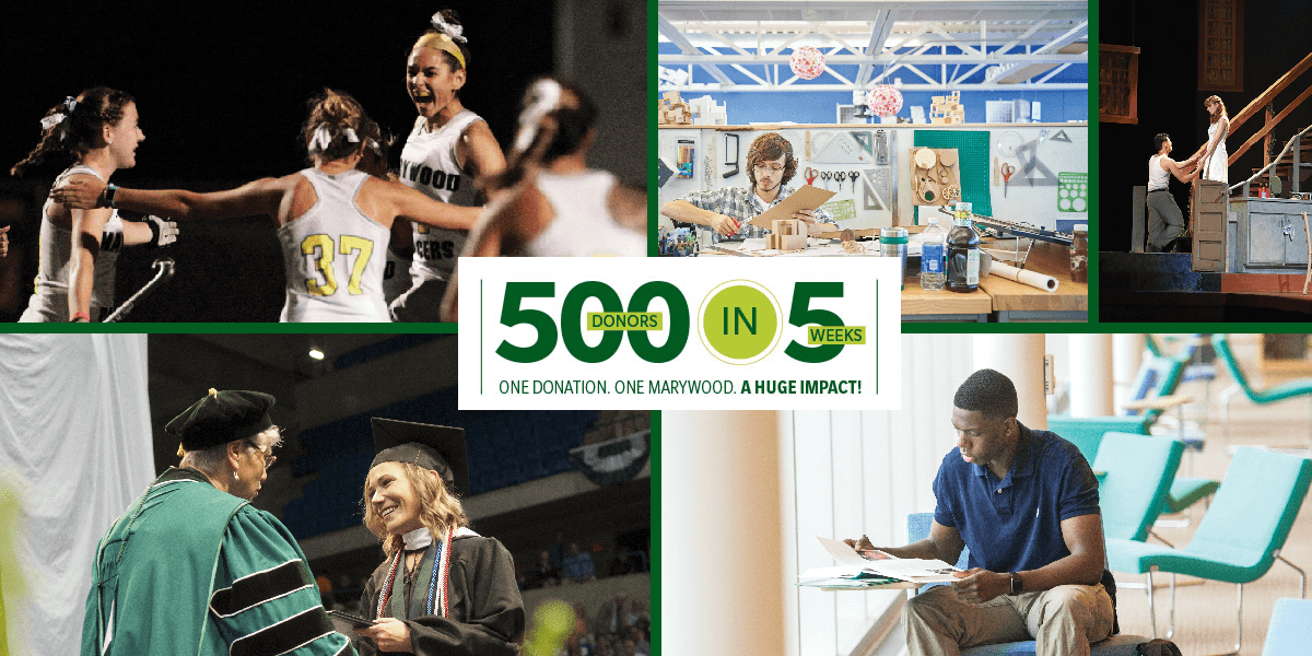 Thank you! Marywood 500 Donors in 5 Weeks Challenge