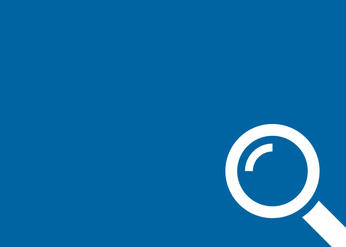 blue solid magnify icon