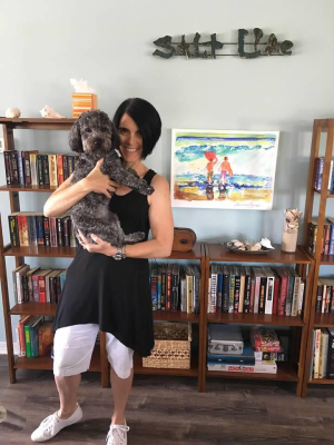 Marla Kovatch with her trusted companion, Pierre