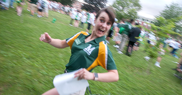 orientation leader running